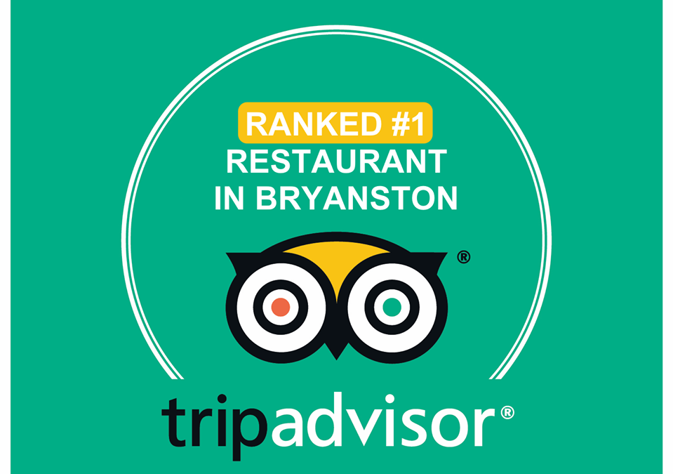 Ranked the Top Restaurant in Bryanston on TripAdvisor
